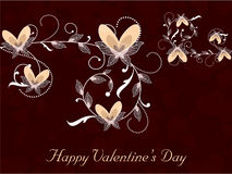 Happy Valentines Day background with floral decorated hearts. EP. S 10 Stock Photo