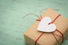 Happy Valentines day. Background with valentines day gift Stock Image