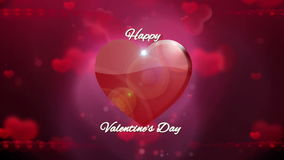 Happy valentines day background. HD 1080 stock footage