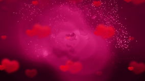 Happy valentines day background. HD 1080 stock video footage