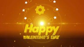 Happy valentines day background 4K. 4K Happy valentines day background stock video