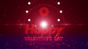 Happy valentines day background 4K stock footage
