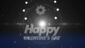 Happy valentines day background 4K. 4K Happy valentines day background stock footage