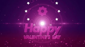 Happy valentines day background 4K stock video footage