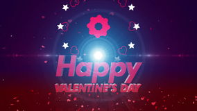 Happy valentines day background 4K. 4K Happy valentines day background stock video footage
