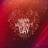 Happy Valentines day background with shining heart. Of particles. Vector illustration for your greeting or invitation card, poster, flyer, other design stock illustration