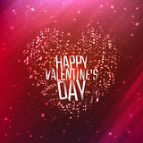 Happy Valentines day background with shining heart. Of particles. Vector illustration for your greeting or invitation card, poster, flyer, other design royalty free illustration