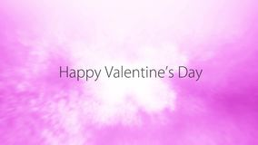 Happy Valentines Day Background - traveling through pink clouds. 