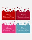 Happy Valentines Day background (vector) Stock Images