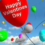 Happy Valentines Day Balloons  Showing Love And Affection Royalty Free Stock Photos