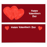 Happy Valentines Day Banner. Stock Image