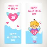 Happy Valentines day banners. royalty free illustration