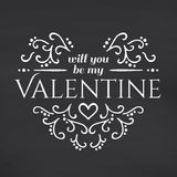 Happy Valentines Day. Blackboard background Royalty Free Stock Image
