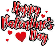 Happy Valentines Day. In bright red Royalty Free Stock Photography
