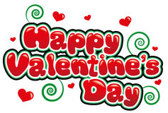Happy Valentines Day. In bright red font Stock Photography