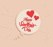 Happy valentines day bubble background Royalty Free Stock Photos