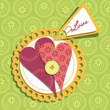 Happy valentines day card Royalty Free Stock Photo
