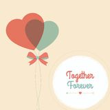 Happy Valentines Day Card Stock Photo