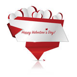 Happy Valentines Day card. Banner. Vector illustration Royalty Free Stock Image