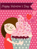 Happy Valentines day card. Stock Images