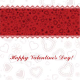 Happy Valentines Day card. Royalty Free Stock Photo