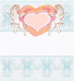 happy valentines day card with cupid Stock Image