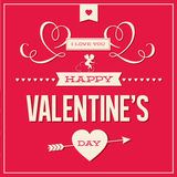 Happy Valentines day card design  Royalty Free Stock Image