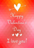 Happy Valentines Day Card Design. 14 February. I L Stock Images