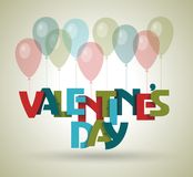 Happy Valentines day card design. 14 february. Royalty Free Stock Images