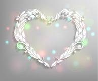 Happy Valentines Day Card Design. Ornamental heart.14 February. Vector Vintage Background vector illustration