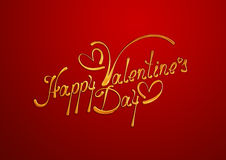 Happy Valentines Day card. Stock Photography