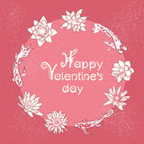 Happy valentines day card with hand lettering Royalty Free Stock Photo
