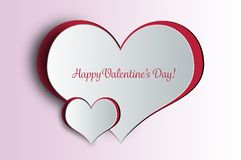 Happy Valentines Day card. With Valentines Day heart Stock Images
