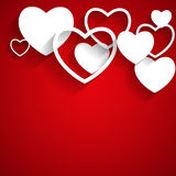 Happy Valentines Day Card with Heart. Flat Vector Stock Photography