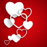 Happy Valentines Day Card with Heart. Flat Vector Royalty Free Stock Images