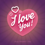 Happy Valentines Day card with heart shapes in Royalty Free Stock Image