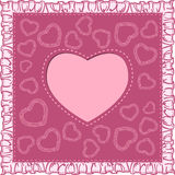 Happy valentines day card with heart Stock Images