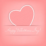 Happy Valentines Day card with heart. Vector. Illustration Royalty Free Stock Photo