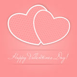 Happy Valentines Day card with heart. Vector. Illustration Royalty Free Stock Photos