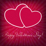 Happy Valentines Day card with heart. Vector. Illustration Royalty Free Stock Images