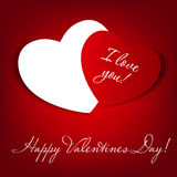 Happy Valentines Day card with heart. Vector. Illustration. This is file of EPS10 format Stock Photo