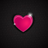 Happy Valentines Day card with heart. Vector Royalty Free Stock Photo
