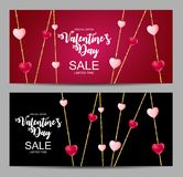 Happy Valentines Day Card with Heart. Vector Illustration Stock Photo