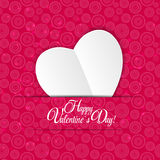 Happy Valentines Day Card with Heart. Vector Stock Photography