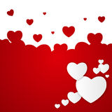 Happy Valentines Day Card with Heart. Vector Stock Photos