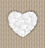 Happy Valentines Day Card with Heart. Vector Royalty Free Stock Image