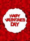Happy Valentines Day Card with Heart. Vector Stock Image