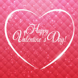 Happy Valentines Day Card with Heart. Vector Stock Photo