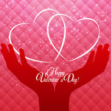Happy Valentines Day Card with Heart. Vector Illustration Stock Image