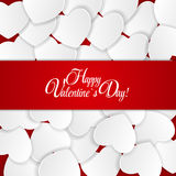 Happy Valentines Day Card with Heart. Vector Illustration Royalty Free Stock Photos